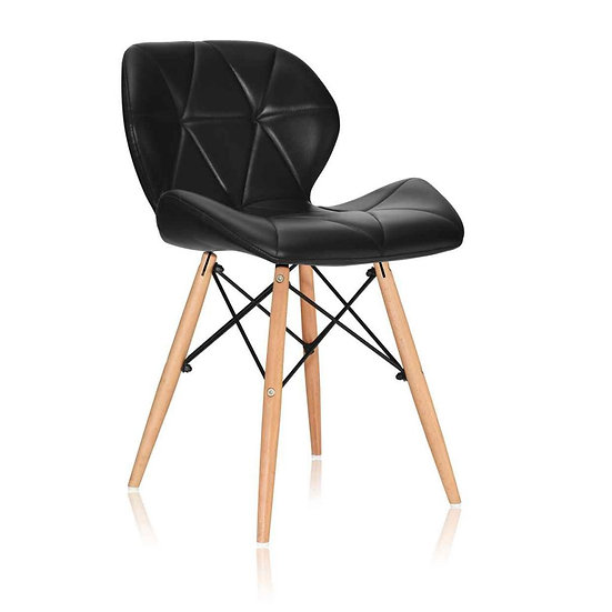 Noora PU Leather Dining Chair (Set of 2) - Black