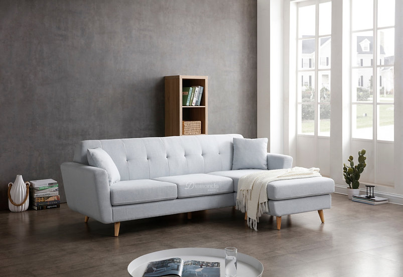 TANGLED Fabric Two Seater Sofa With Chaise