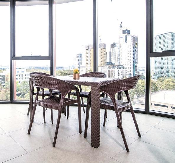 OGDEN Imitation Rattan Outdoor Dining Table