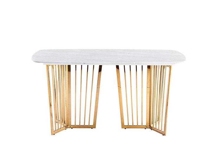 Aurora Grey Round Corner Marble Dining table