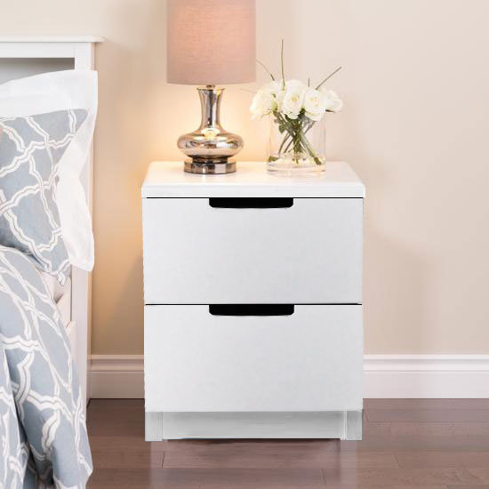 CAIUS Bedside Table White
