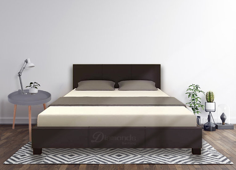 STONIE Classic PU Leather Bed Frame Black