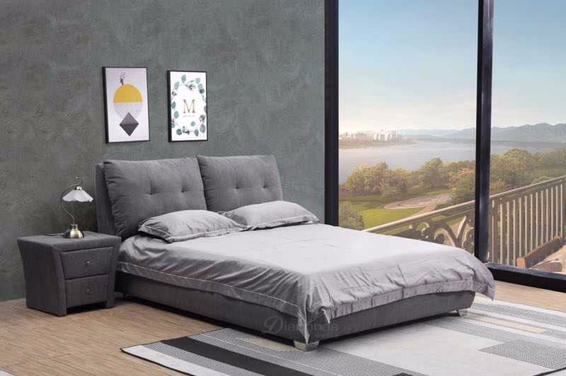 MUSE Luxury Padded Bed Frame Queen