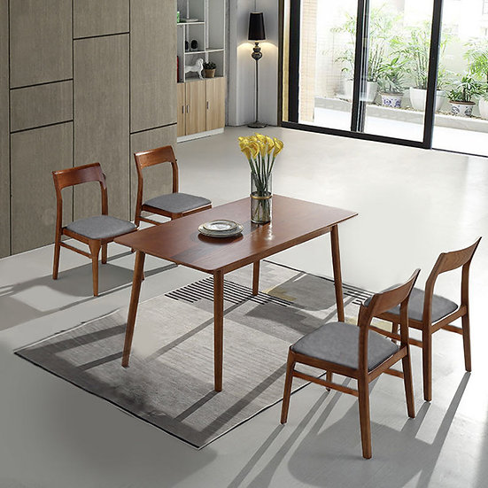 Mia Bella Dining Table Set/Midium Brown