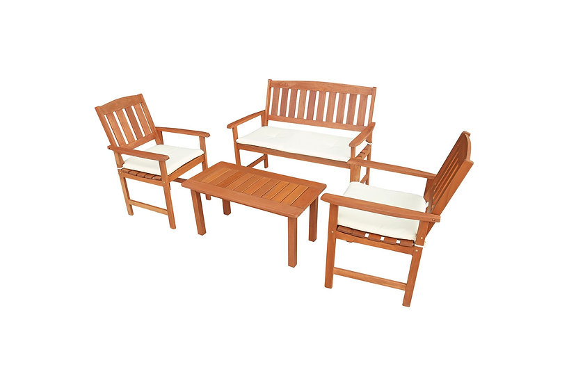 OBERO 4 Piece Outdoor Lounge Set