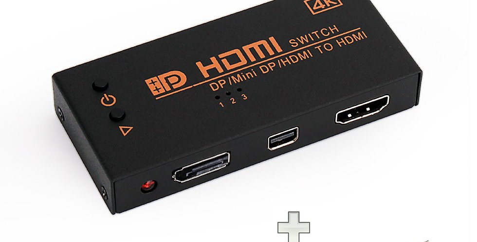 Ogima 4K version HDMI+DP+Mini DP to HDMI 3 in 1