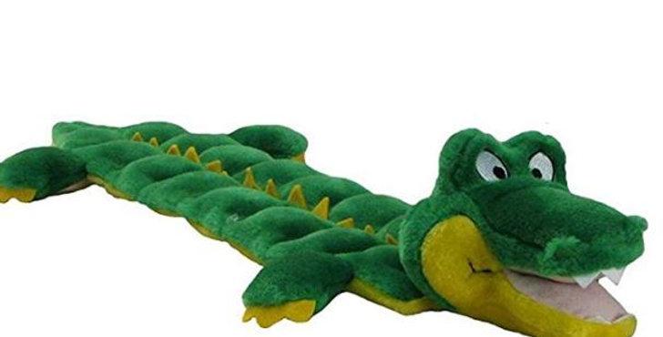Outward Hound Squeaker Matz Squeaky Dog Toy – Interactive Cuddly Gator Soft Toy