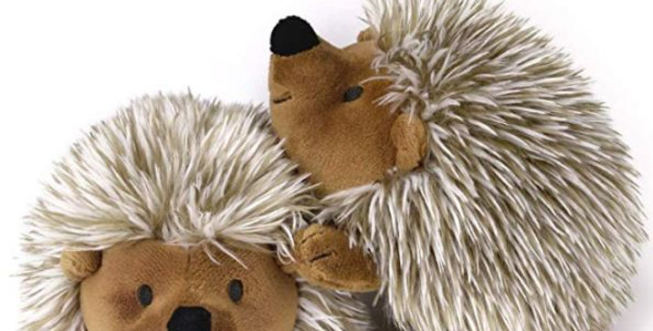 PAWABOO Squeak Plush Dog Toys, Stuffed Plush Pet Toys Soft Faux-Fur Pet Rattle P