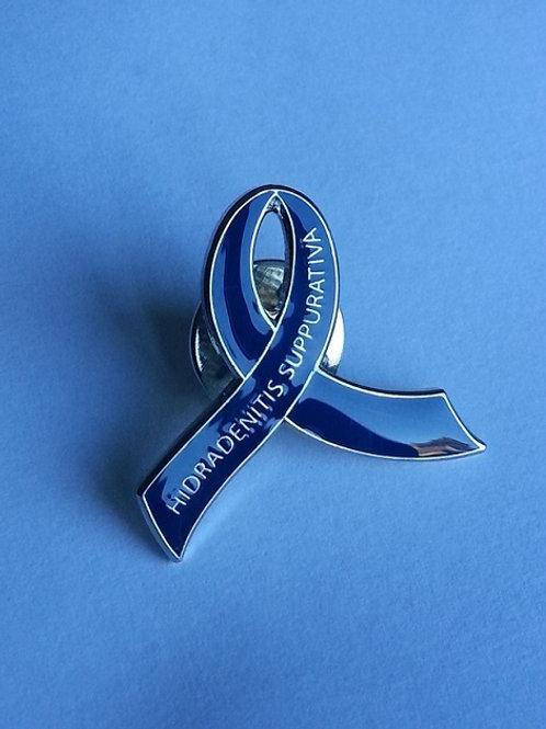 Blue Ribbon pin badge