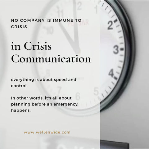 Crisis Comms : It's all about speed and control