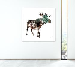 Spirit Moose - Bronze &Teal