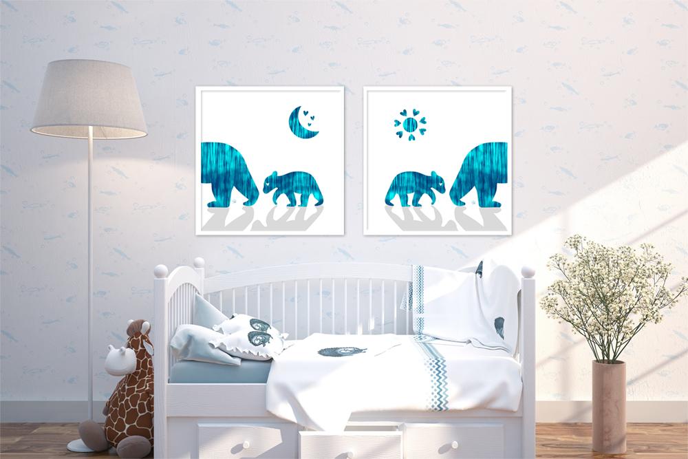 Bear Cub - Blues (Set of 2)