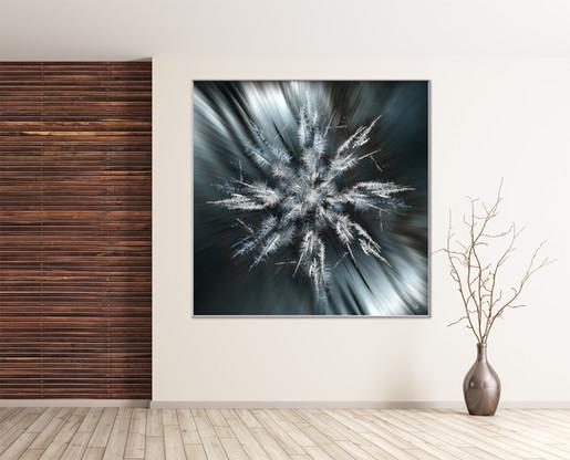 Snowflake Kaleidoscope - Silver