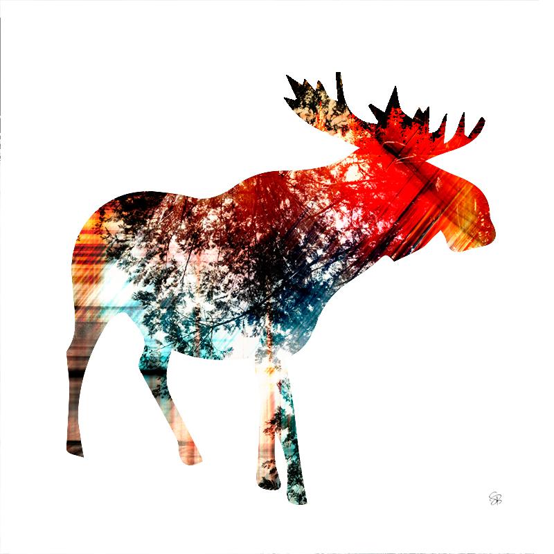 Spirit Moose - Gold & Red