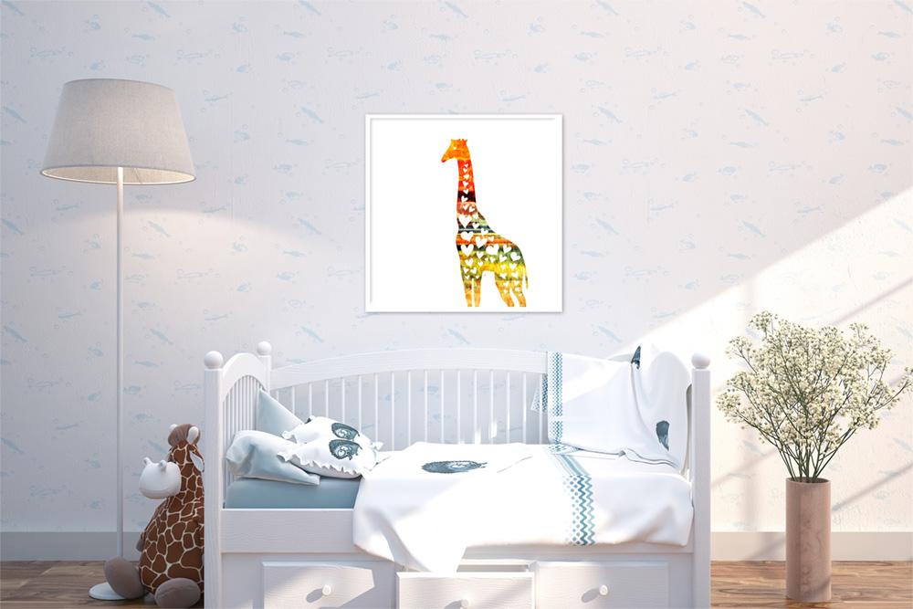 Heart Giraffe - Africa Sunset