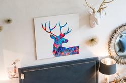Spirit Deer - Blue & Orange