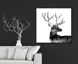 Winter Deer - Black
