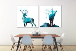 Winter Deer & Spirit Elk Ice