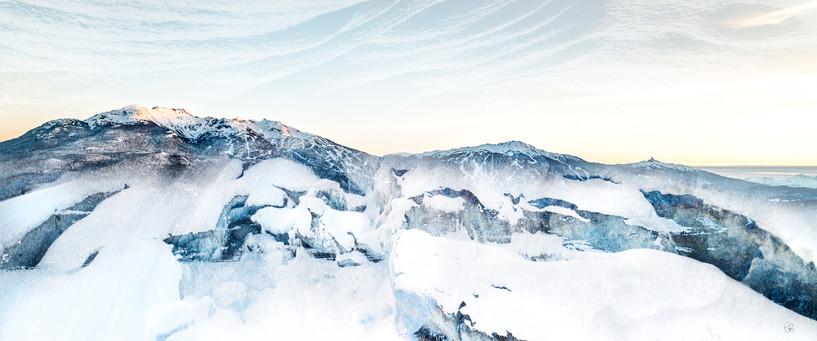 Whistler Alpenglow - Panoramic