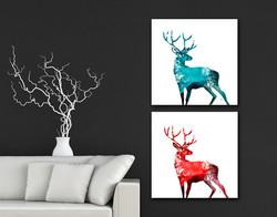 Spirit Deer - Fire & Ice