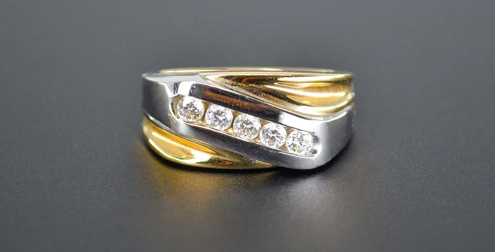 Diamond Men's Two-tone Ring