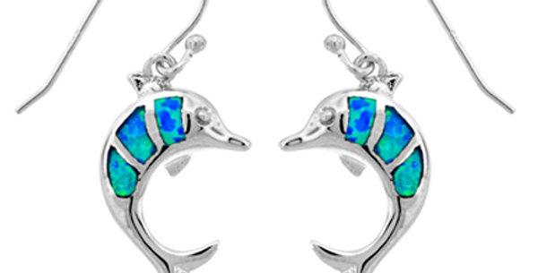 Dolphin Opal Earrings