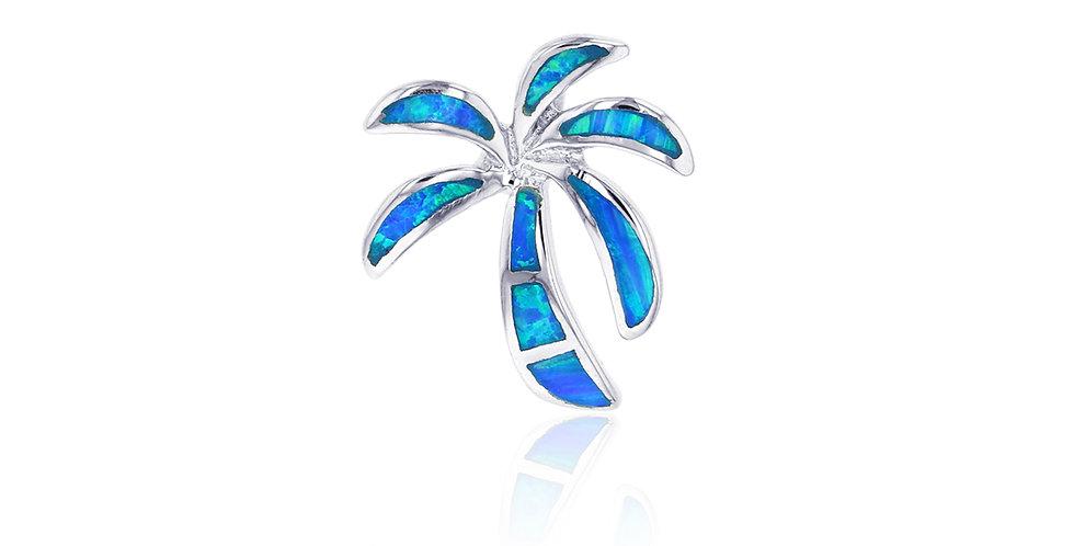 Opal Palm Tree Pendant
