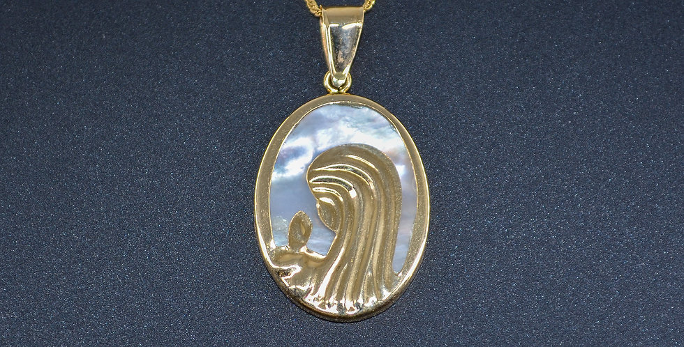 Mother Mary Gold Pendant