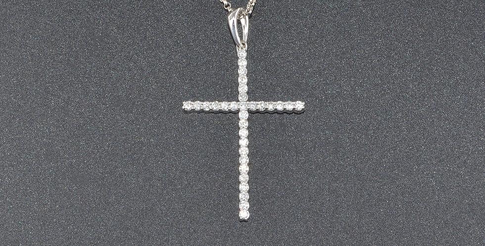 Diamonds Cross White Gold Pendant