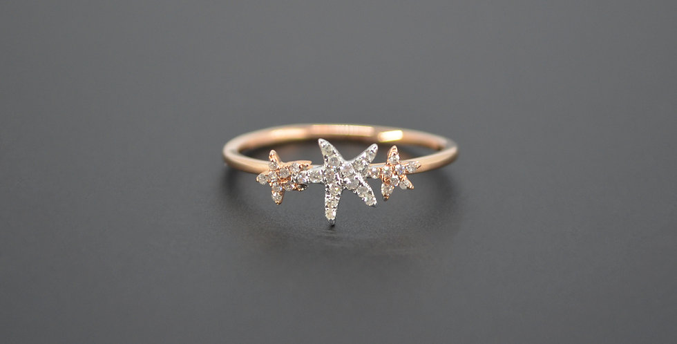 Triple Starfish Diamond Ring