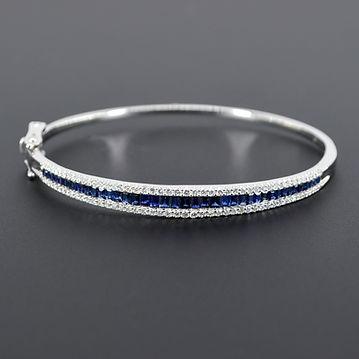 sapphire 2.25 diamond 0.90 white gold ba