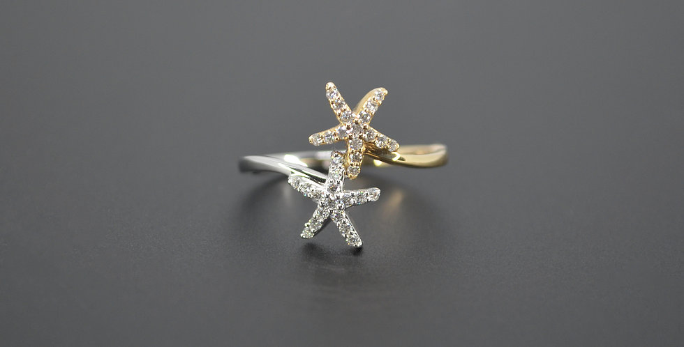 Two-Tone Starfish Diamond Ring