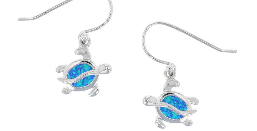 Opal Turtle Earrings