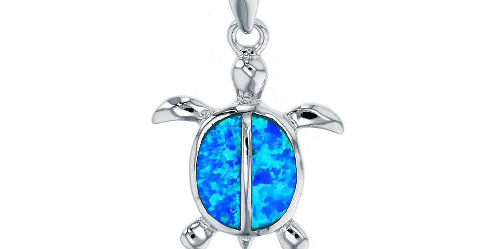 Opal Turtle Pendant