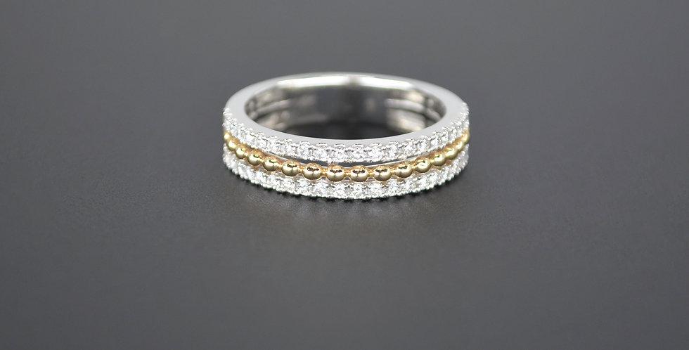 Two-Tone Diamond Ring