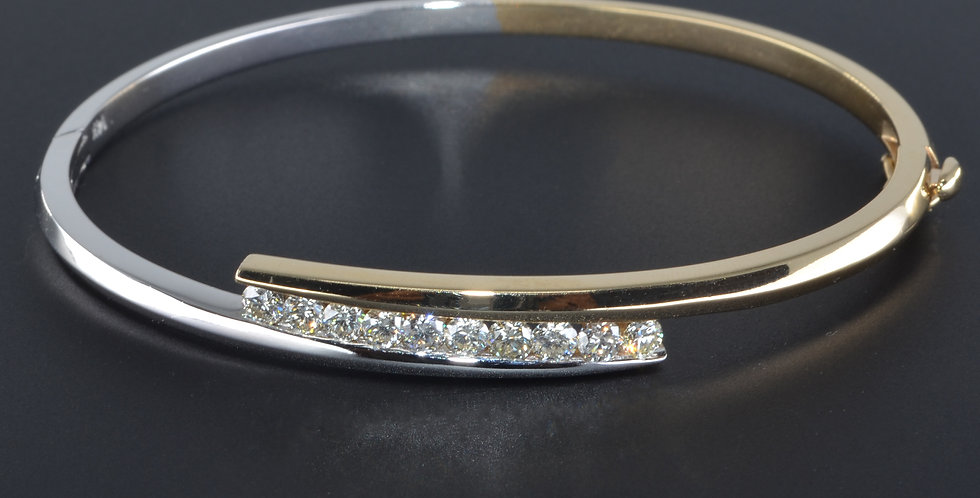 Diamond Two-tone Bangle