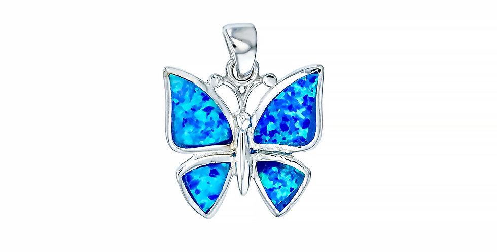 Opal Butterfly Pendant