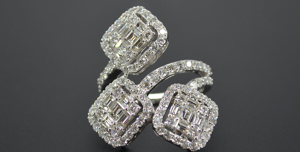 Trilogy Cocktail Diamond Ring