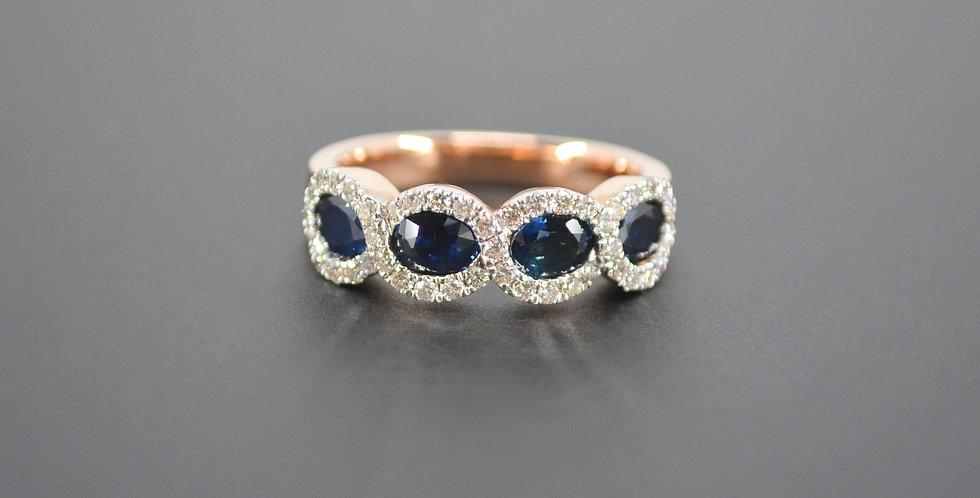 4 Waves Sapphire & Diamond Ring