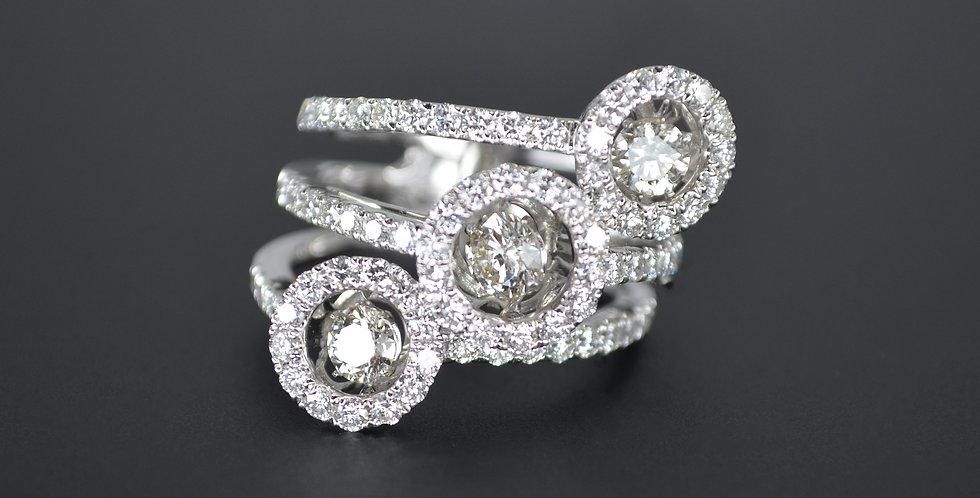 Trilogy Confetti Diamond Ring