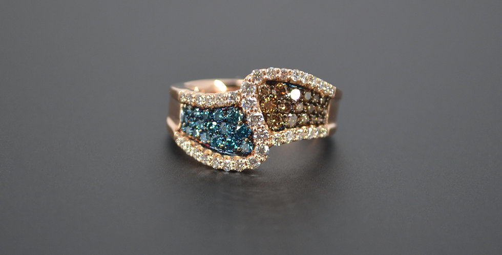 Sand and Sea Diamond Wave Ring