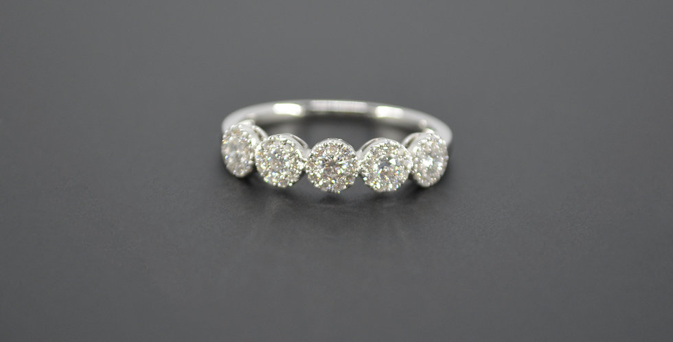 Diamonds & White Gold Stackable Ring