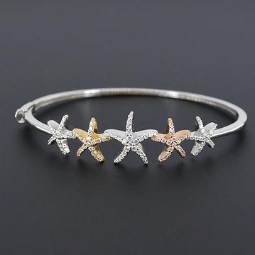 5 star diamond 1 carat tricolor gold ban