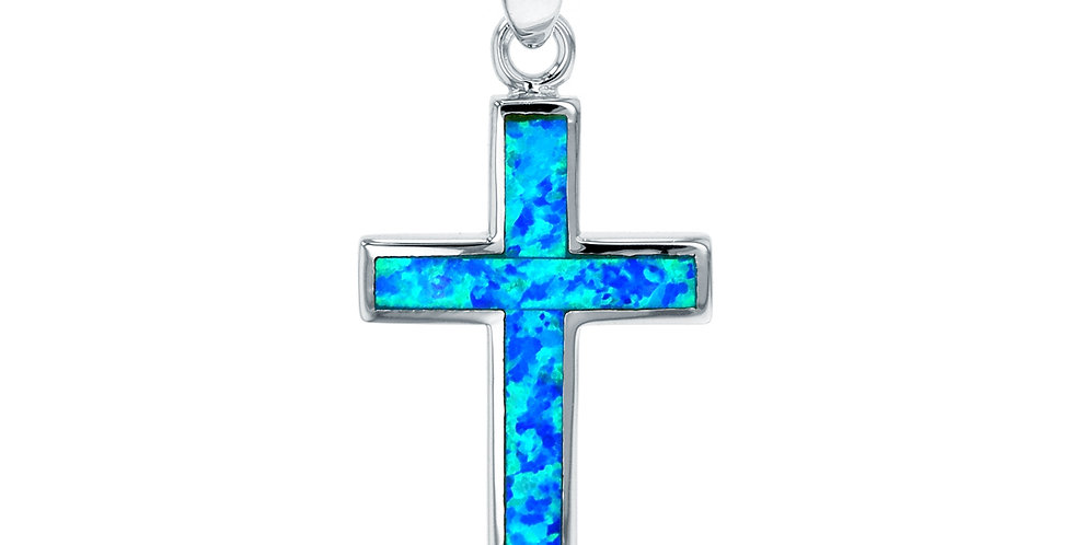 Opal Cross Pendant