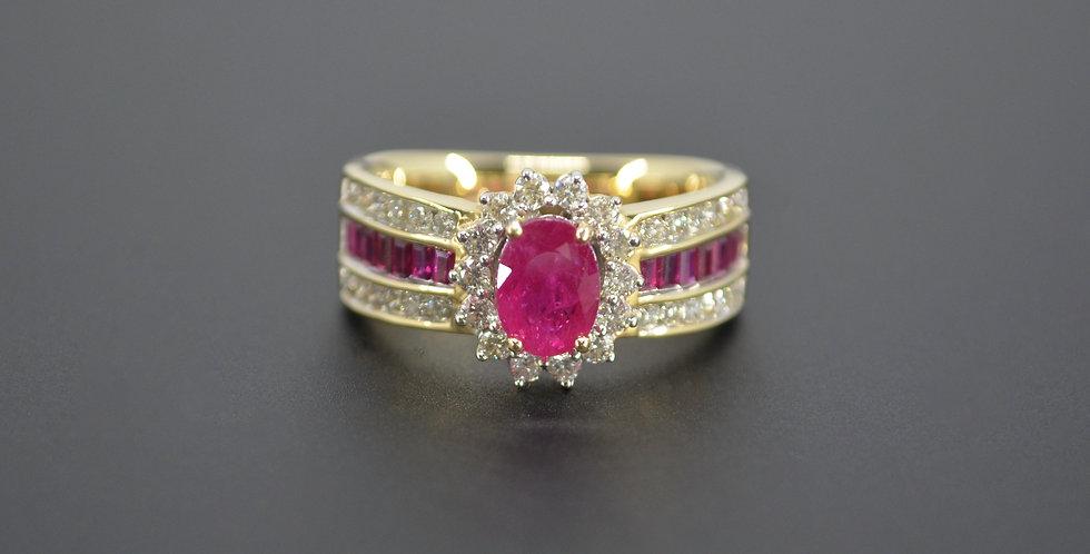 Princess Diana Ruby & Diamond Ring