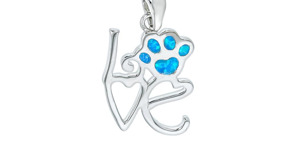 I Love Paws Opal Pendant