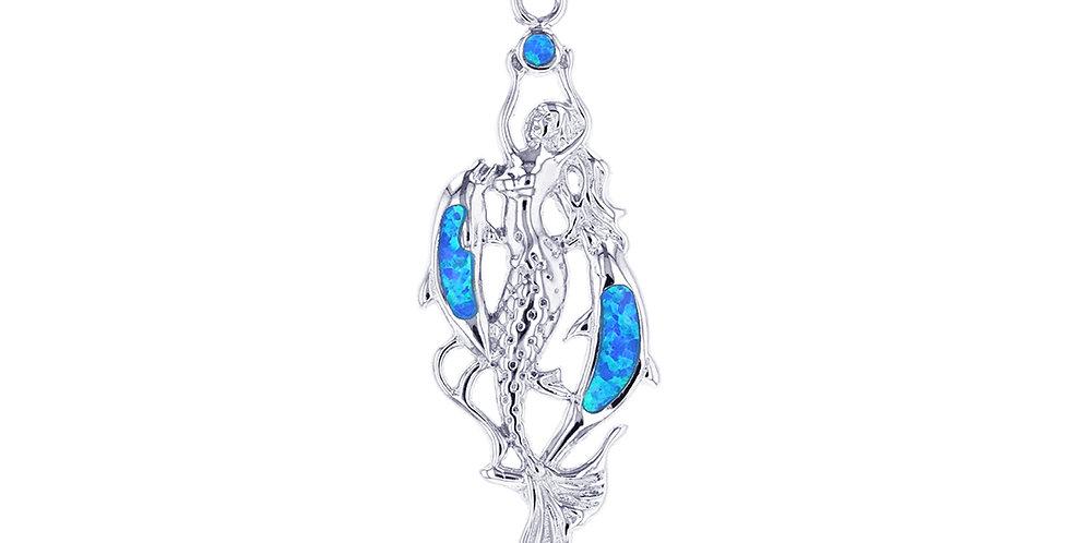 Opal Mermaid Pendant