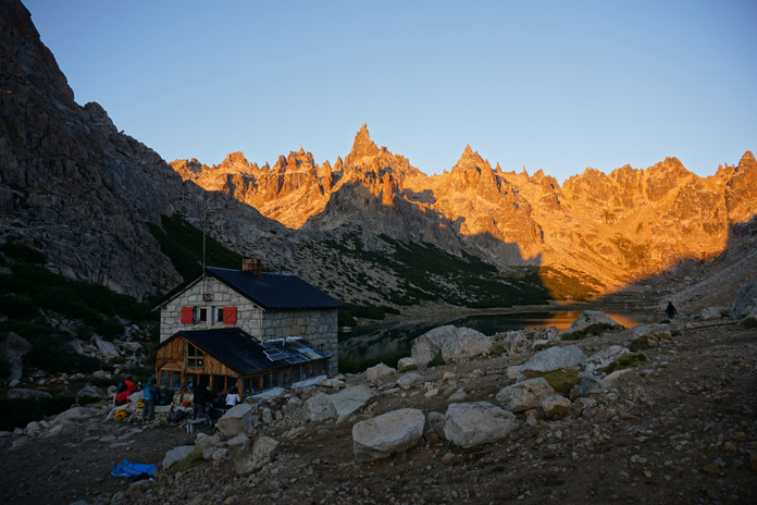 Refugio Frey, situated at the base of Torre Principal
