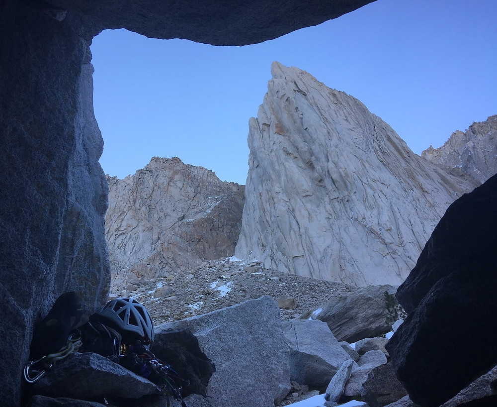 The view from our bivy cave