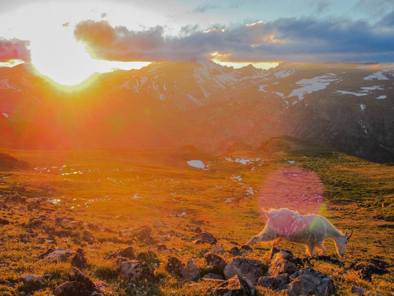 Sunset views on day 1 of a Granite Peak trip.